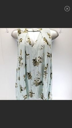 New Free People Mint Floral Sleeveless Plunge Top for Sale in Owings Mills,  MD