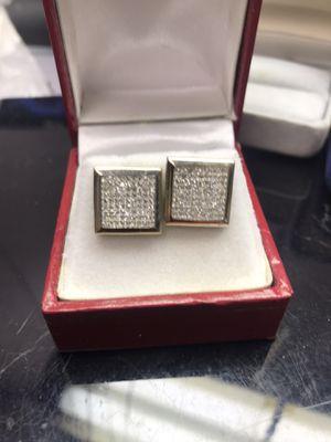 14k White gold diamond earrings for Sale in Baltimore, MD