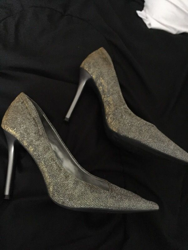 Guess heels gold/silver
