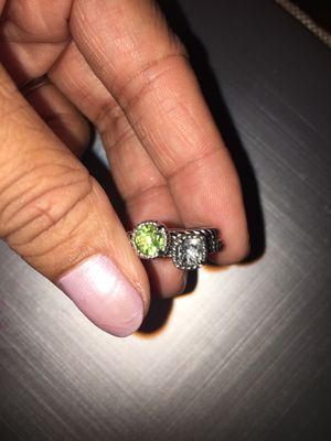 Pandora ring set of 2 sterling silver 40$ firm size 5 for Sale in Elk Grove, CA