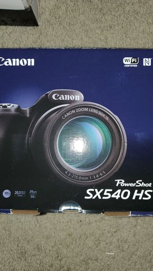 New Canon PowerShot SX540 Digital Camera w/ 50x Optical Zoom - Wi-Fi & NFC Enabled (Black) for Sale in Carlsbad, CA