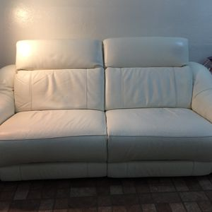 Leather Reclining Sofa for Sale in Miami, FL