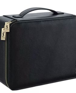 YSL Yves Saint Laurent Black Makeup Vanity Train Hard Case Travel Cosmetic Bag for Sale in Seal Beach,  CA