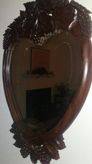 ANTIQUE HANDCARVED WALNUT MIRROR for Sale in Raleigh, NC