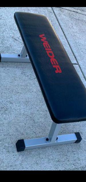 Flat weight bench +++ 20lb adjustable set of dumbbells for Sale in Portland, OR