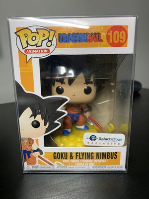 Galactic Toys Exclusive Goku and Flying Nimbus Funko Pop for Sale in Chandler, AZ
