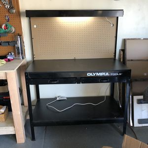 New Work Bench With Light And Power Strip for Sale in Chandler, AZ