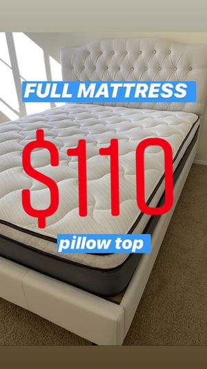 LOCATED IN LOS ANGELES $20 Delivery Fee ‼️ BRAND NEW PILLOW TOP MATTRESSES💯 COLCHONES NUEVOS PILLOW TOP 💯 Queen $120 ❌ $180 With Box Spring 💥💥 F for Sale in Compton, CA