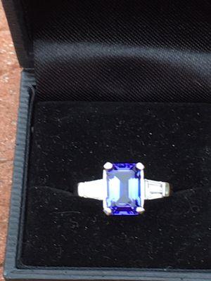 3.14 ct Tanzanite ring in Platinum w/diamonds for Sale in Normal, IL