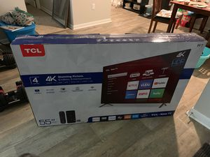 "55"" TCL ROKU TV for Sale in Hermitage, TN"