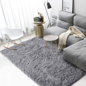 Grey Shaggy Area Rug (4' x 6') for Living Room, Kids Room, Home Decor Carpet for Sale in Hidden Hills, CA