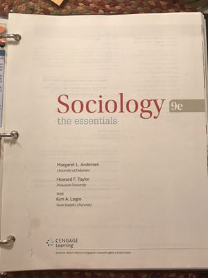 Sociology the essentials 9th edition for Sale in Harlingen, TX