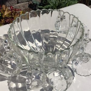 Vintage Edgewood 18 Piece Crystal Punch Set with Original Box by Hazelware for Sale in Bothell, WA