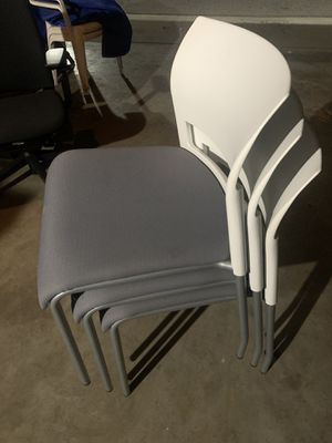 Steel case stackable chairs 3 for Sale in Anaheim, CA