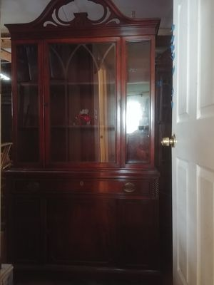 China cabinet, cherry wood. Great shape, condition. Antique. for Sale in Santa Clarita, CA