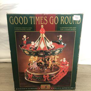 Christmas Musical Carousel Revolving/ Good Time Go Around Vintage for Sale in Winter Park, FL