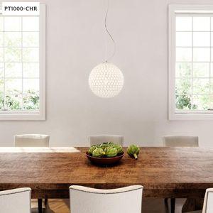 Elegant Designs Elipse Chrome Genuine Crystal Ball Sphere Pendant #46936 for Sale in Dallas, TX