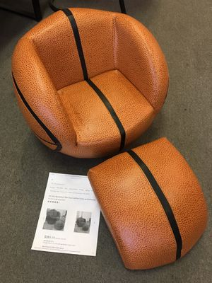 All-Star Basketball Kids Faux Leather Chair and Ottoman for Sale in Murray, UT