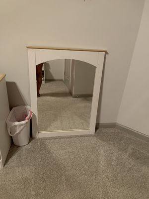 Cream/Off white wall mirror ( Price is negotiable) for Sale in Atlanta, GA