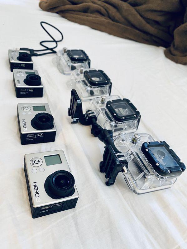 GoPro Hero 3 (quantity of 4)