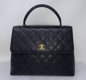 Chanel Classic Top Handle Quilted Caviar Bag for Sale in Corona, CA