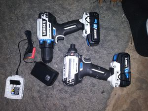 Hart drill with new bits... 20v. .. 2 of them.. With chargers and bits for Sale in Jackson, MS