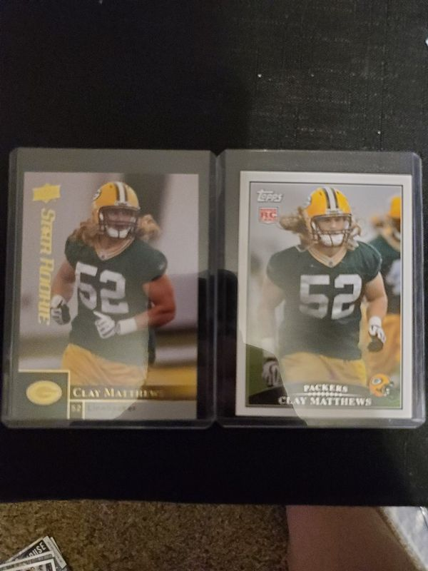 Clay Matthews Mint Condition 09 Upperdeck and Topps Rookie Cards