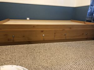 Twin bed frame with drawers and dresser for Sale in Ceres, CA