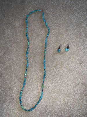 Turquoise necklace with matching earrings for Sale in Springfield, VA