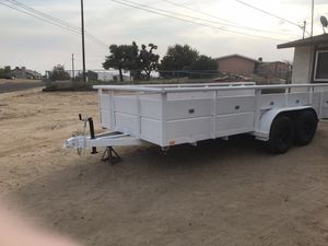 16 foot utility trailer new floor 3200 or best offer for Sale in Hesperia, CA