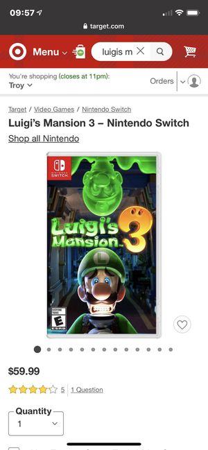Luigi's Mansion 3 for Sale in Troy, MI