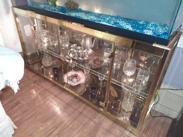 Retro Lighted Glass display cabinet paid 2100