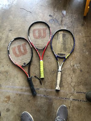 Tennis racket $40 for 3 for Sale in Whittier, CA