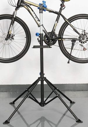 New adjustable 41 to 75 inch bicycle bike repair stand with handlebar stabilizer bar 66lbs capacity excellent quality for Sale in Covina, CA
