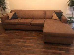 Brand NEW cognac couch with Sofa Bed for Sale in Rancho Cucamonga, CA