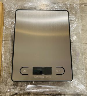 Food Scale 11.2LB Digital Kitchen Scale Weight Kg Grams pounds and oz for Cooking BakingStainless Steel for Sale in Norwalk, CA