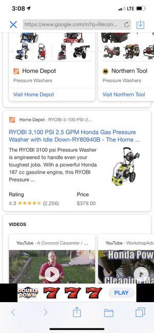 Ryobi pressure washer with Honda motor for Sale in Sacramento, CA