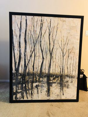 Paining, Acrylic On Cotton Canvas, Abstract Landscape - Handpainted for Sale in San Fernando, CA