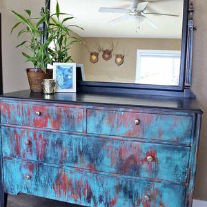 Antique Restyled Berkey N Gay Furniture Dresser with Mirror for Sale in Lynden, WA