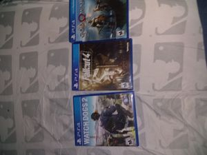 3 PS4 Video Games Fallout 4, God of War(2018),Watch Dog 2 for Sale in Phoenix, AZ