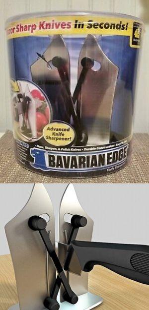 NEW As Seen On TV Bavarian Edge Kitchen Knife Sharpener Sharpens Hones Polishes Serrated Beveled Standard Blades for Sale in Pico Rivera, CA