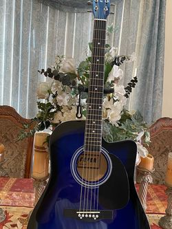 blue fever acoustic guitar with metal strings for Sale in Bell Gardens,  CA