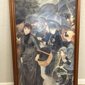 """28x19 Glass Framed """"Umbrella's"""" By Pierre-Augusta Renoir - High End French Artwork From Z Gallerie for Sale in Gilbert, AZ"""