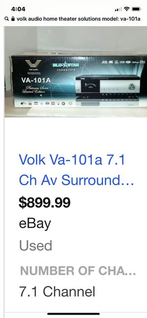 VOLK 7.1 ch av surround integrated amp with subwoofer : READ THE DESCRIPTION for Sale in San Jose, CA