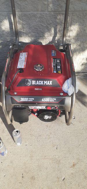 BRAND NEW BLACK MAX 4500 WATT GENERATOR for Sale in Salt Lake City, UT