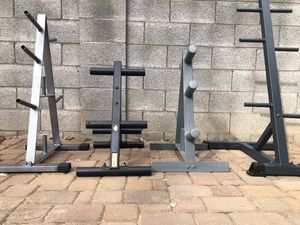 Olympic / standard weight plate tree standS... $65 EACH for Sale in Glendale, AZ