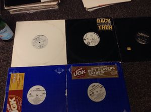 Houston Rap classics UGK Slim Thug Mike Jones Rap a lot Swishahouse Outkast Dj Screw Htown hip hop vinyl record lot for Sale in Houston, TX