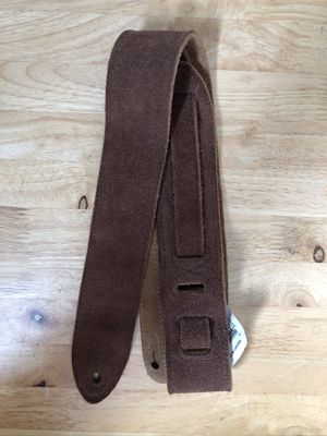 """Levy's 2"""" Genuine Leather Suede Guitar Strap (brown) NEW never used. Fender, Squier, Ibanez, bass, acoustic, electric, amp, effects for Sale in La Verne, CA"""