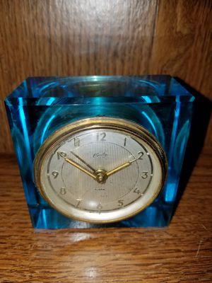 Vintage Blue Crystal Alarm Clock for Sale in Farmersville, IL