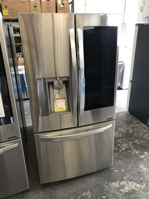 LG Stainless Steel 24. Cu. Ft. Smart Wi-Fi Enabled InstaView Door-in-Door Counter-Depth Refrigerator for Sale in Tampa, FL